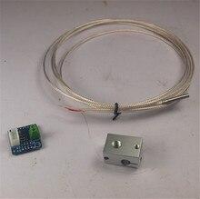 A Funssor PT100 temperature sensor V6 heater block upgrade kit for DIY 3D printer Fast ship
