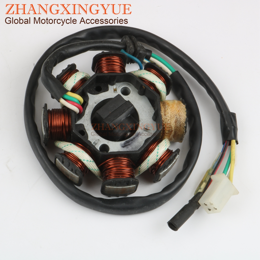 US $17 63 |Scooter Ignition Stator 6 8 coils for SYM Fiddle 2 Jet 4 Orbit 1  2 Symphony S SR Symply 1 2 125/150 GY6 152QMI 157QMJ 4 stroke-in Motorbike