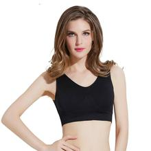 Mozhini sexy bra with pads seamless push up big size 3XL underwear padded cup chest wireless tops t shirt finess