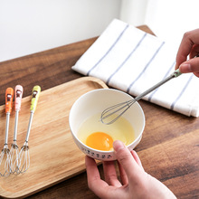 Drink Whisk Mixer Egg Beater  Ceramic Handle Egg Beaters Kitchen Tools Hand Egg Mixer Cooking Foamer Whisk Cook Blender use the kitchen to beat the egg mixer manually