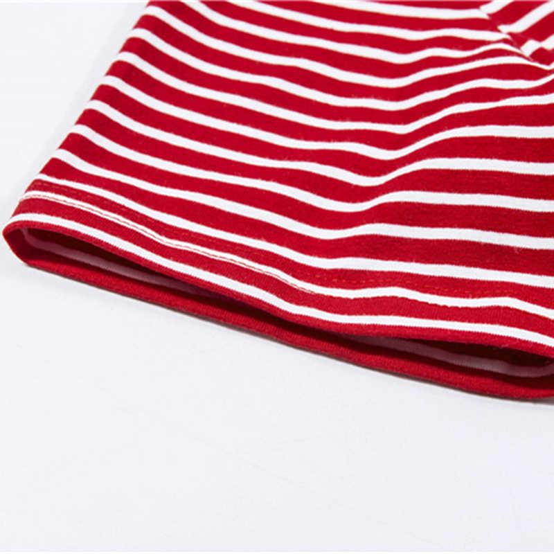 Retro Rosso Bianco Della Banda Tee Delle Donne Manica Corta T-Shirt Di Base di Estate 2020 Casual Streetwear Fidanzato Maglietta 90s Del Bambino Magliette E Camicette
