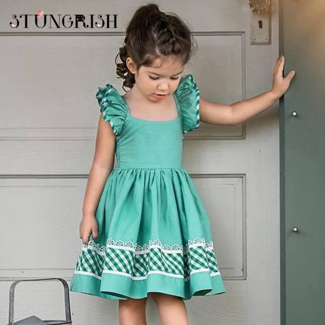 2bf511e478c0 Summer girls dress unique style clothing elegant frocks flare sleeve ...
