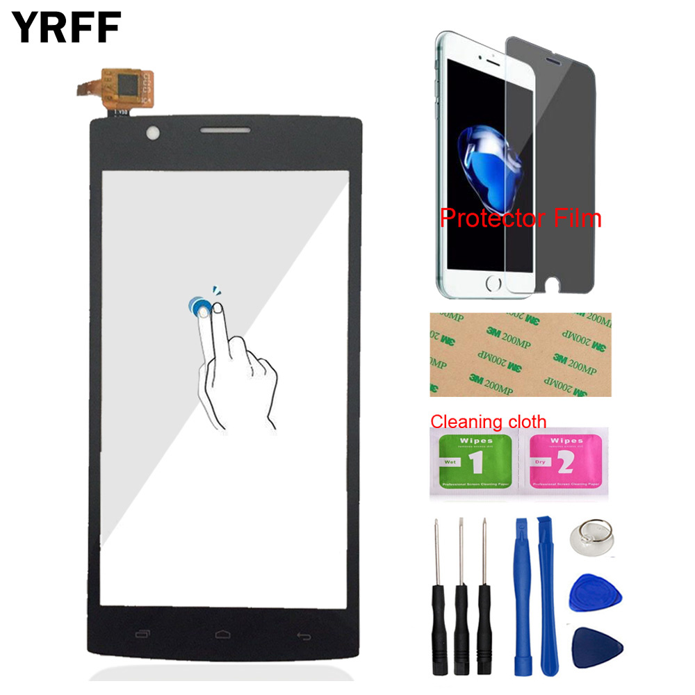 5.0'' Front Touch For Fly FS501 Nimbus 3 FS 501 Touch Screen Glass Digitizer Panel Lens Sensor Tools + Protector Film Adhesive