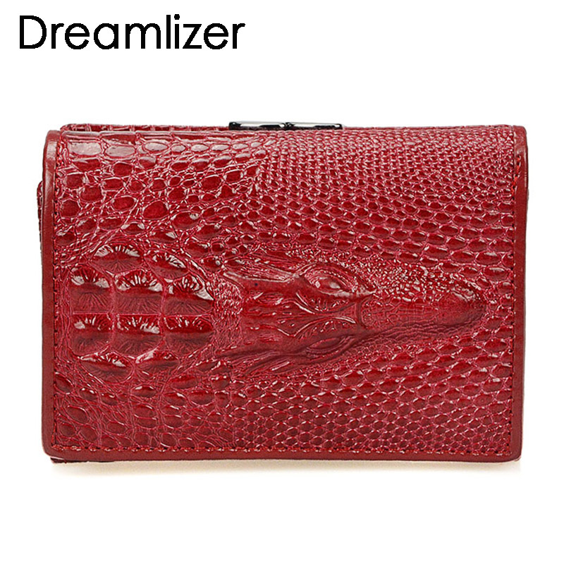 Brand 3 Fold Genuine Leather Women Wallets Coin Pocket Female Clutch Travel Wallet Portefeuille femme cuir Red Purse Card Holder women purse solid color mini grind magic bifold leather wallet card holder clutch women handbag portefeuille femme dropshipping
