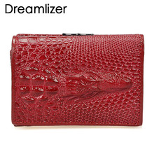 Brand 3 Fold Genuine Leather Women Wallets Coin Pocket Female Clutch Travel Wallet Portefeuille femme cuir Red Purse Card Holder 3 fold pu leather women wallet clutch famous brand design ladies purse card phone holder notecase clutch long burse coin pocket