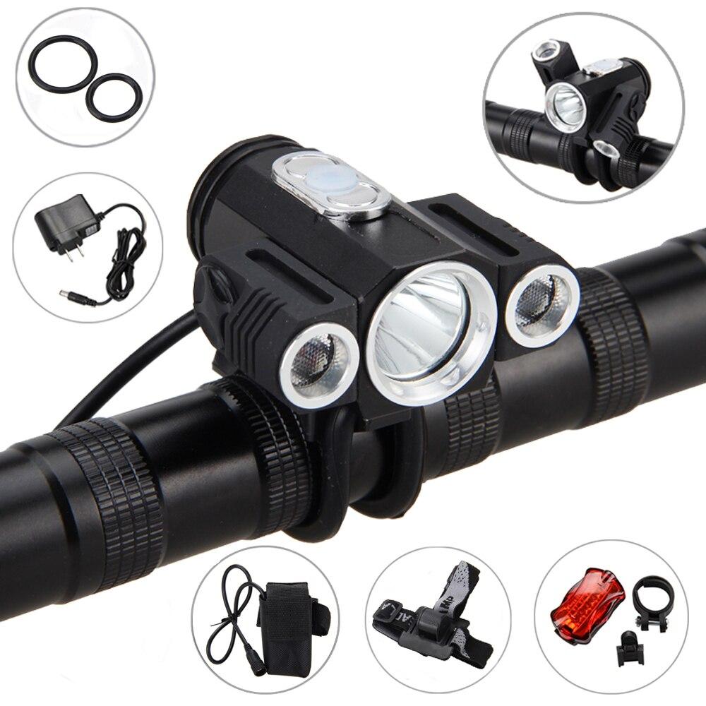 10000LM 3x XML T6 LED 4,2 v Einstellen winkel fahrrad-licht Fahrrad Lampe Scheinwerfer mit Batterie + Rückseitige Schwanz licht