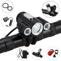 10000LM 3x XML T6 LED 4 2v Adjust Angle Front Bicycle Light Bike Lamp Headlight With