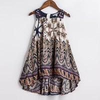 Baby Girls Summer Dress 2016 New Brand Kids Print Party Dress For Girls Children Bohemian Fashion