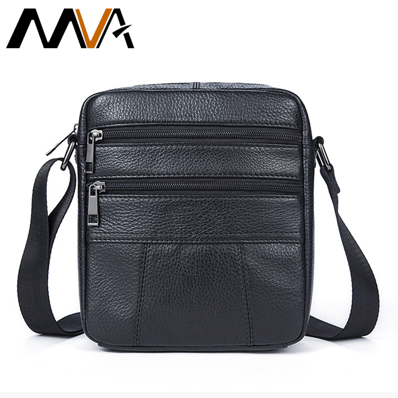 a3278c9679 MVA Men s Crossbody Bags Brand Genuine Leather Men Bag Men s Shoulder Bag  Male Zipper Ipad Holder
