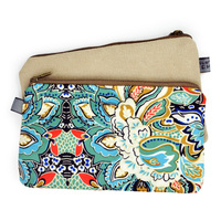 Lady Cute Flower Wallet Women Small Mini Purse Purse Retro National Wind Printing Canvas Bag Simple
