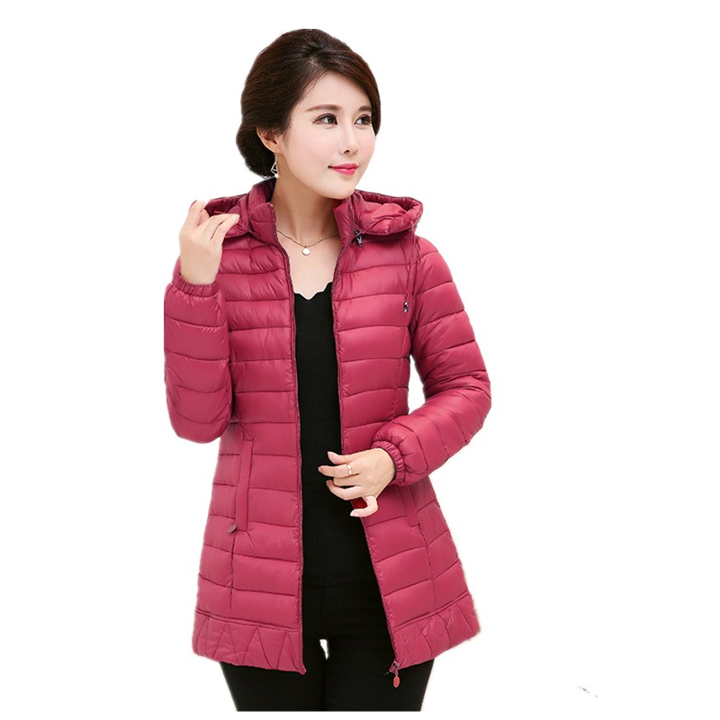 2017 New women winter jacket female hooded cotton padded coat ladies plus size parka solid slim outerwear feminino 5L42 new 2017 solid color hooded winter women basic jacket cotton padded casaco feminino women slim short outwear female coat cm1660