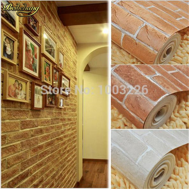beibehang PVC vintage wallpaper for living room bedroom tv background wall brick Papel De Parede Fine decor 3D wallpaper roll beibehang papel de parede brown yellow stripe background wall wallpaper for tv bedroom living room fine decor pvc vinyl wall