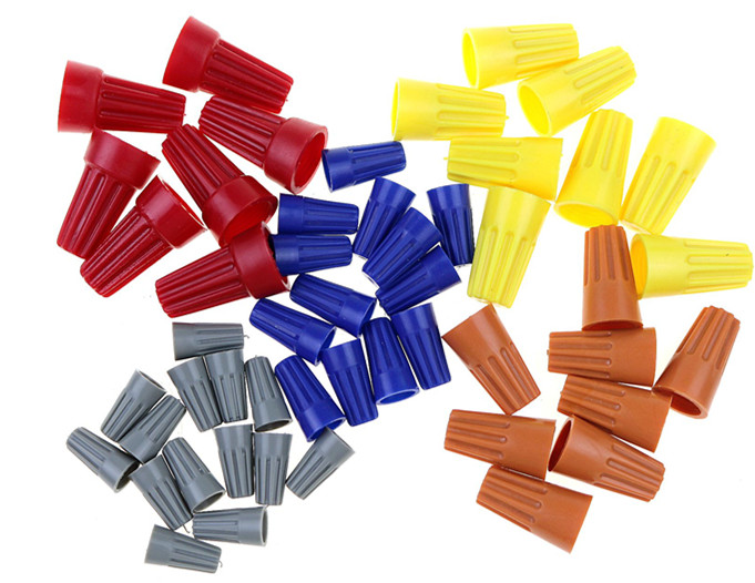 20X Electrical Wire Twist Nut Connector Terminals Cap Spring /'