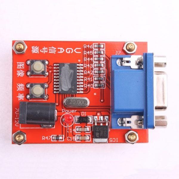 VGA Signal Generator LCD Display Tester 7V-12V Power input pc monitor display test vga signal generator white