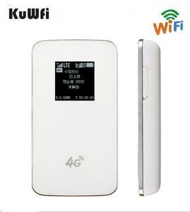 Image 1 - KuWfi Unlocked 4G WIFI Router LTE Pocket 4620mAh Power Bank WiFi Modem 4G WIFI Router With Sim Card Slot