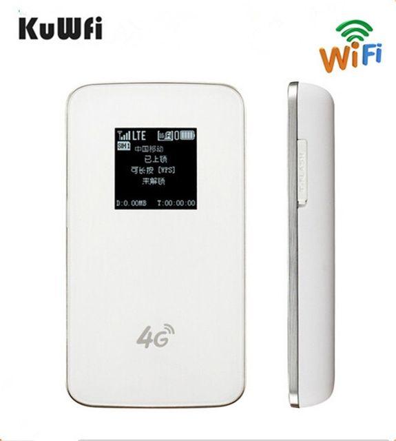 KuWfi Unlocked 4G WIFI Router LTE Pocket 4620mAh Power Bank WiFi Modem 4G WIFI Router With Sim Card Slot