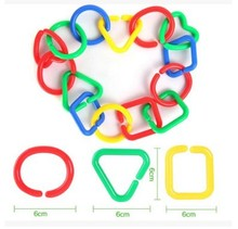 Parrot Gnawing Toy Bird Cage Buckle Color Buckle Activity Buckle Station Stand Bar Resistance Bite Diy Toy Random Colors 50pcs