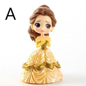 Image 4 - Disney 10 cm S versiyonu Kar Beyaz Prenses Alice Denizkızı şekil Alice in Wonderland Ariel Küçük Denizkızı PVC şekilli kalıp oyuncak