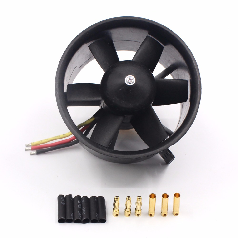 цена на QX 90mm EDF Ducted Fan Motor 6 Blades QF3530 1750KV Brushless Motor Balance Tested for Jet RC Airplane Multicopter F22138