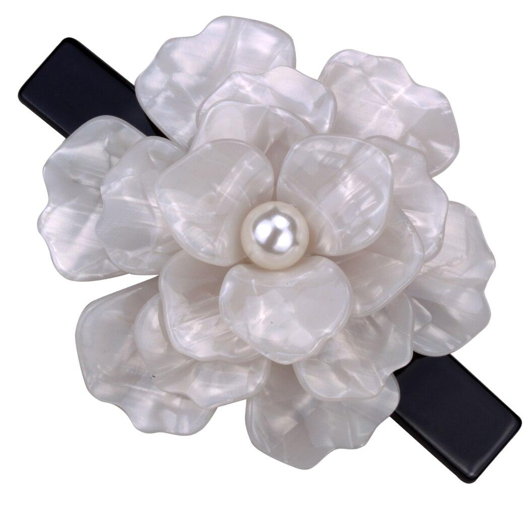 ⊹Big flower hair barrette clip for women girls austrian crystal