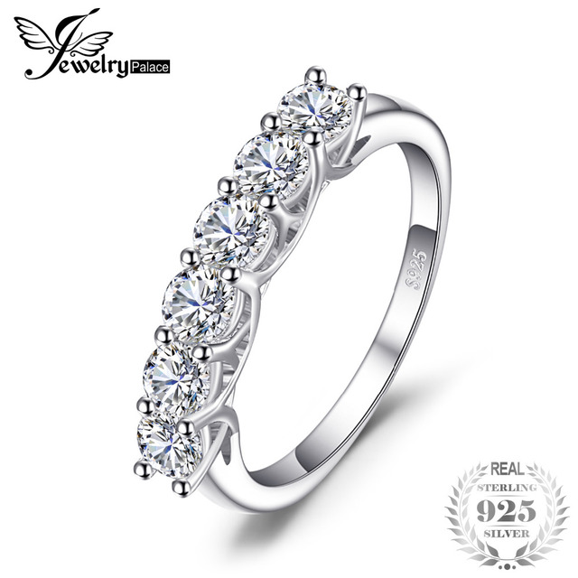 JewelryPalace Bridal Cubic Zirconia Wedding Ring 925 Sterling Silver New Bridal