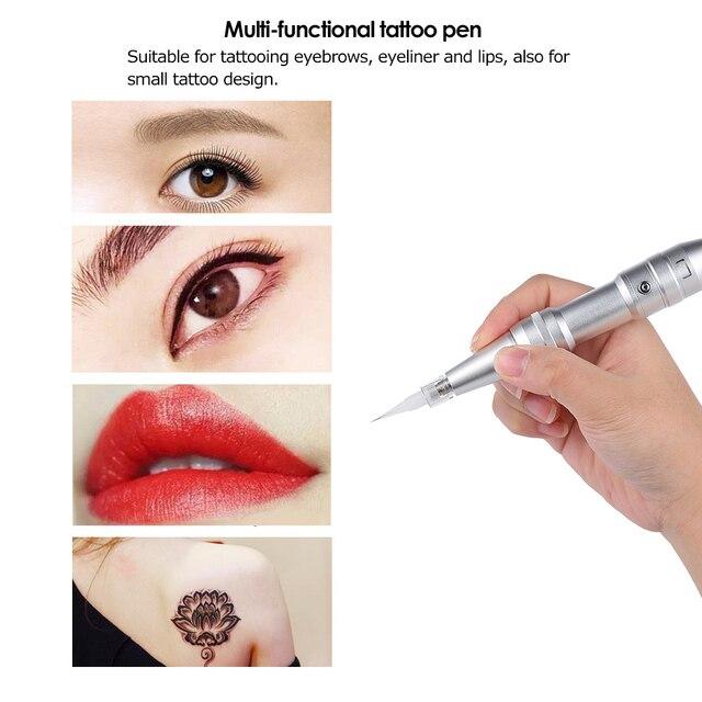 4f8429c9a8587 Professional Permanent Eyebrow Eyeliner Lip Tattoo Machine Set Tattooing Pen  Eye Brow Makeup Tattoo Tool Lip Microblading Pen