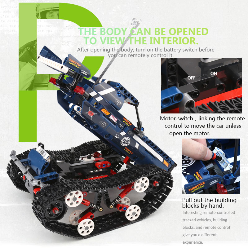 Image 3 - Technic Car Series 20011 RC Crawler Racing Car Remote Control RC Car Model Building Blocks Set Toy compatible with Lego Technic-in Blocks from Toys & Hobbies