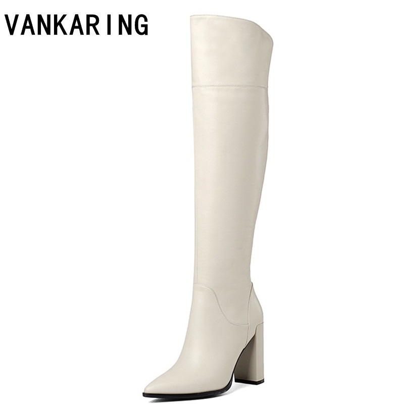brand shoes sexy high heels autumn winter knee high boots woman pointed toe runways warm snow