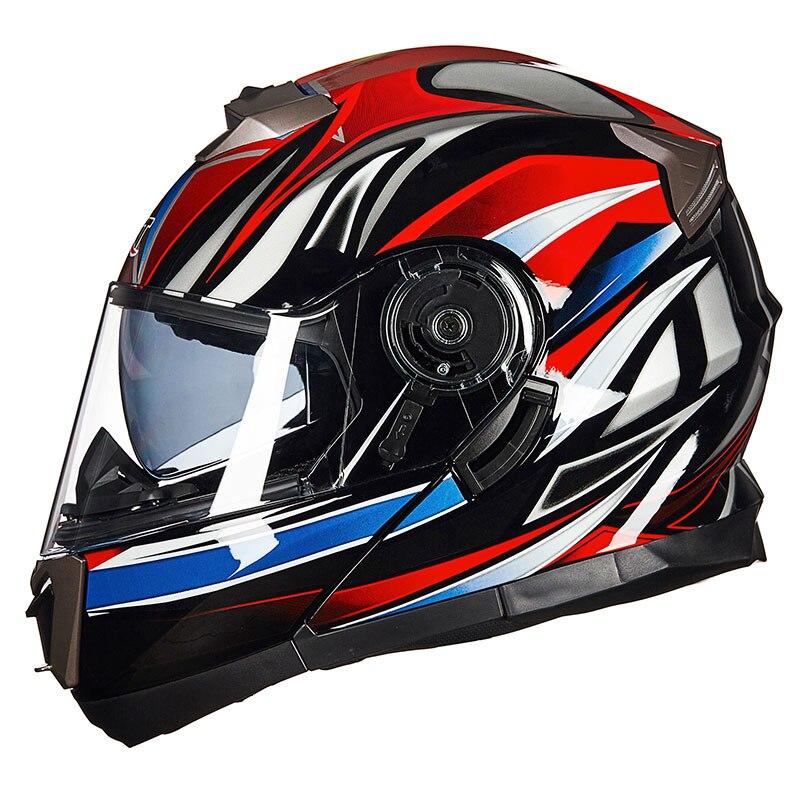4 сезона мотоцикл GXT 160 откидной шлем двойная линза полный шлем Casco DOT ECE стикер Гонки Capacete - 5