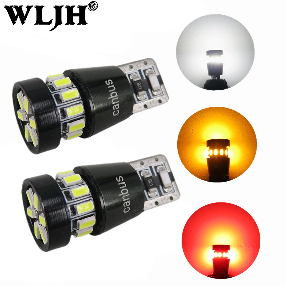 WLJH 2x LED T10 W5W Car LED Auto Lamp 12V Light bulbs Projector Lens for Mazda 3 Axela mazda 6 cx-5 cx5 cx 5 atenza Car Styling