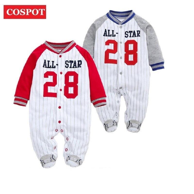 COSPOT 2019 nuevos pies recién nacidos primavera a rayas de manga larga mono Pijamas bebé niños niño bebe ropa Body Suit D24