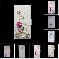 Bling Crystal PU Leather Card Wallet Case Stand Cover For Samsung Galaxy G3815 S7 S7262 S7272