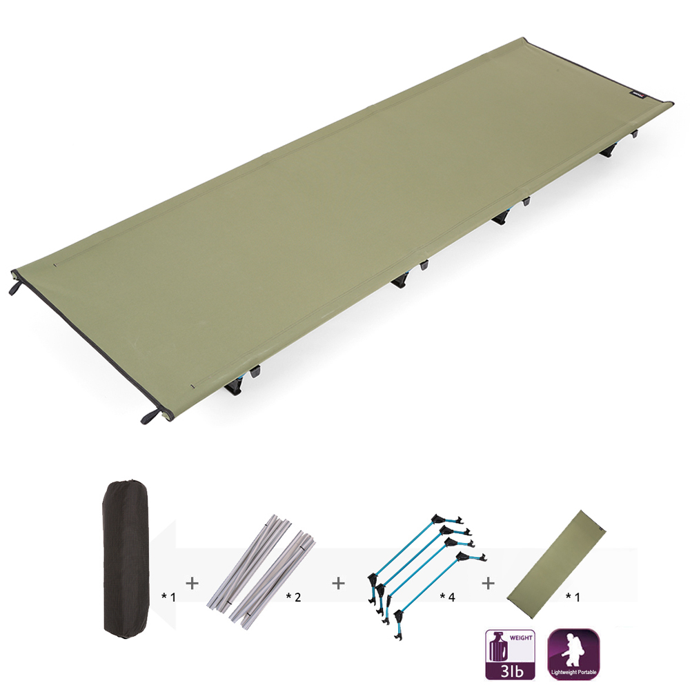 Portable Off Ground Camping Mat Folding Bed Cot Outdoor Camping Sleeping Bed Waterproof Moisture proof Camping
