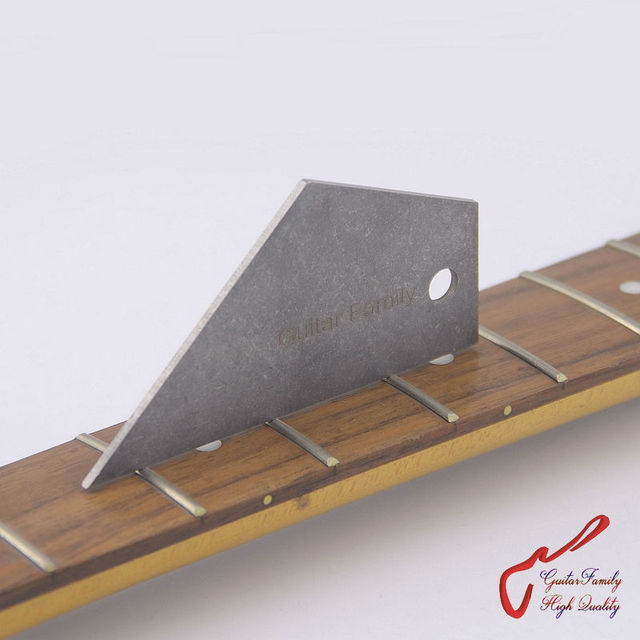 GuitarFamily Guitar Bass Fret Leveling Ruler Fret Rocker  Fret Level Luthier Tool