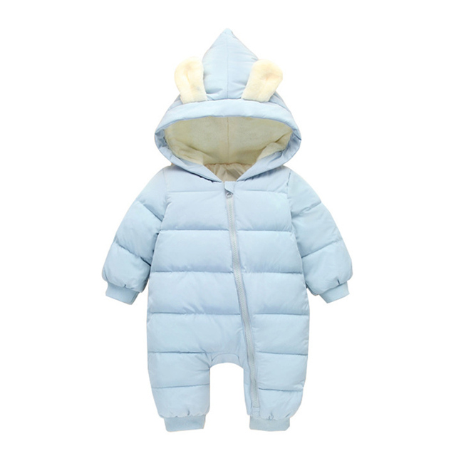 Baby Rompers Winter Jackets for Baby Girls Clothing Spring Autumn Coats Rabbit Ear Style Overalls For Baby Boys Newborn Clothes