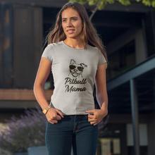 Pitbull T-Shirt Mama Funny Pit Bull Mom T Shirt Street Style New Fashion Women tshirt Short Sleeve Ladies Tee