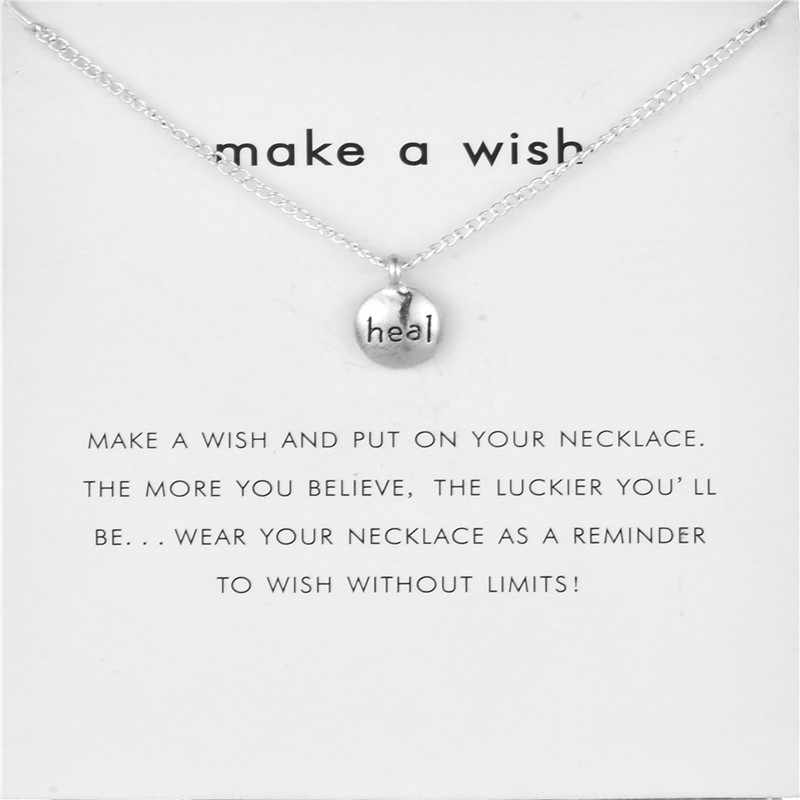 Fashion Jewelry Heal Word Pebbles Pendant Necklace For Women