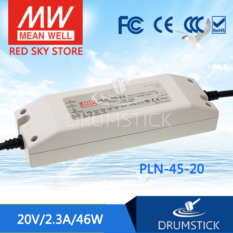 hot-selling MEAN WELL PLN-45-20 20V 2.3A meanwell PLN-45 20V 46W Single Output LED Power Supply