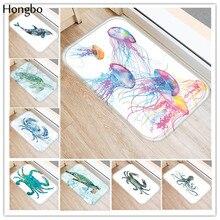 Hongbo New Fashion Creative Rugs Washable Marine Life Carpet Mats Bedroom Non-Slip Floor Area Rug for Living Room