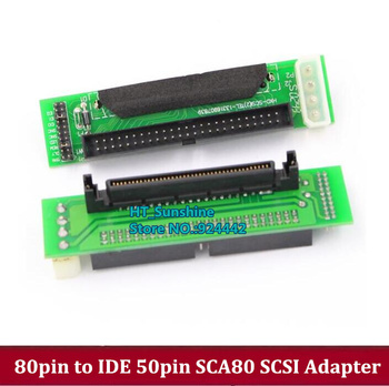 Free Shipping 80 pin SCSI Hard Disk Adapter card 80 pin 80pin to IDE 50pin converter adapter SCA80 SCSI image