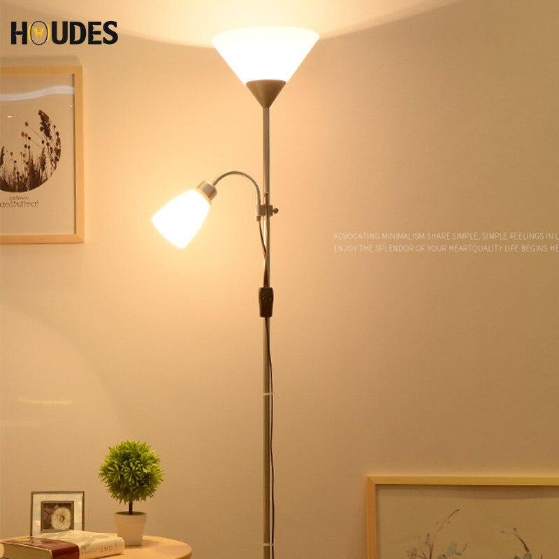 Современный скандинавский дизайн 2 Огни ночного торшер стоять Гостиная регулируемый Hotel освещения E27 светодио дный AC 110 V 220 V для Спальня дома