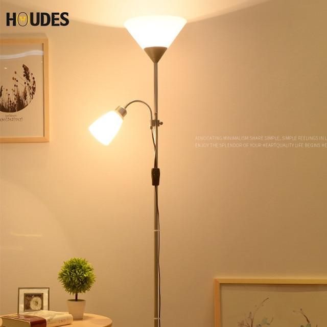 Light Stand For Living Room Parisian Style Modern Nordic Design 2 Lights Night Floor Lamp Adjustable Hotel Lighting E27 Led