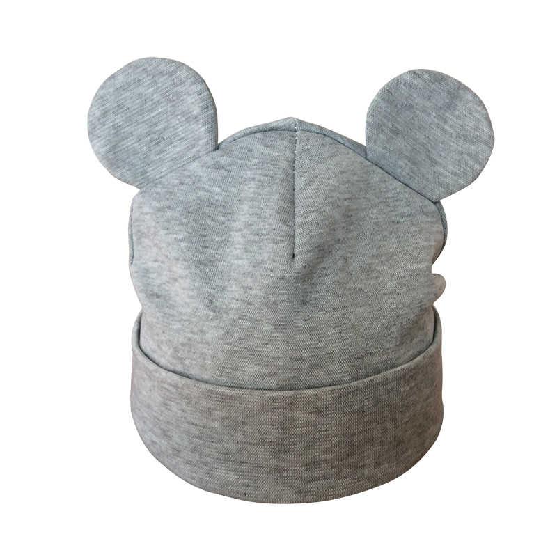 아기 모자 코 튼 귀 모자 유아 소녀 패션 귀여운 만화 아이 소년 겨울 모자 어린이 비 니 모자 모자 모자