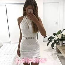 2018 New Vintage Hollow Out Lace Dress Women Elegant Sleeveless White Dress Summer Chic Party Sexy Dress Vestidos Laipelar цена и фото