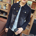Men's Jeans Jacket Jacket Spring Trends Lapel Slim Jeans Eype Up Young Fat Jacket Gown