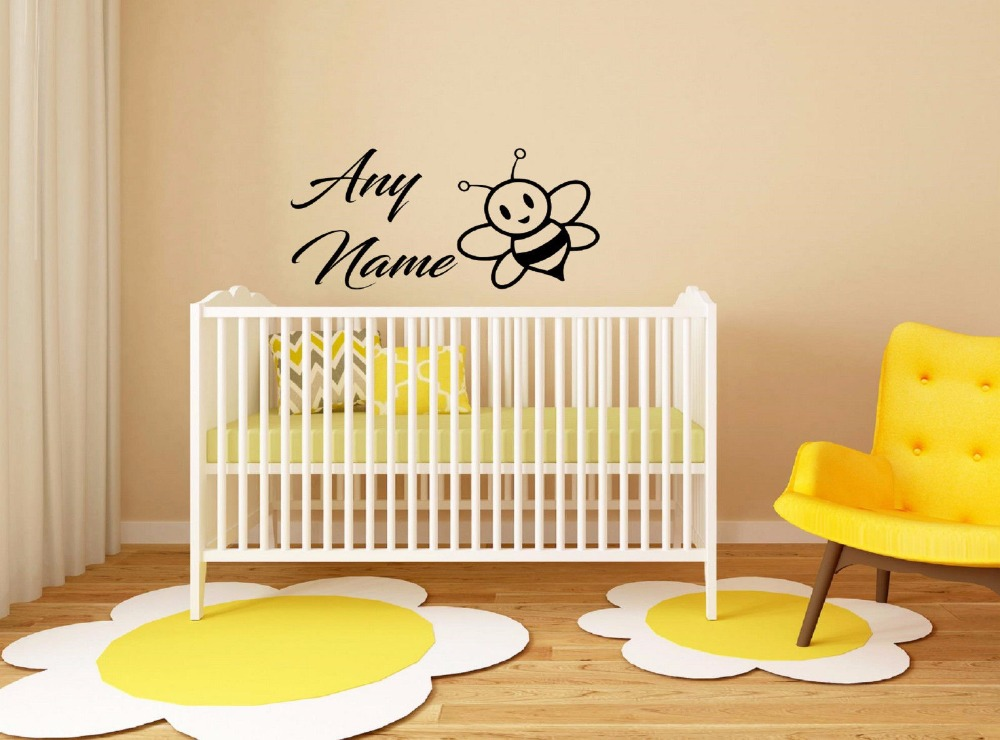 Custom made Personalized Name Bee Animals Vinyl Wall ...