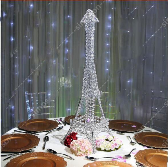 Eiffel Tower Table Decoration Wedding Centerpiece Metal Crystal
