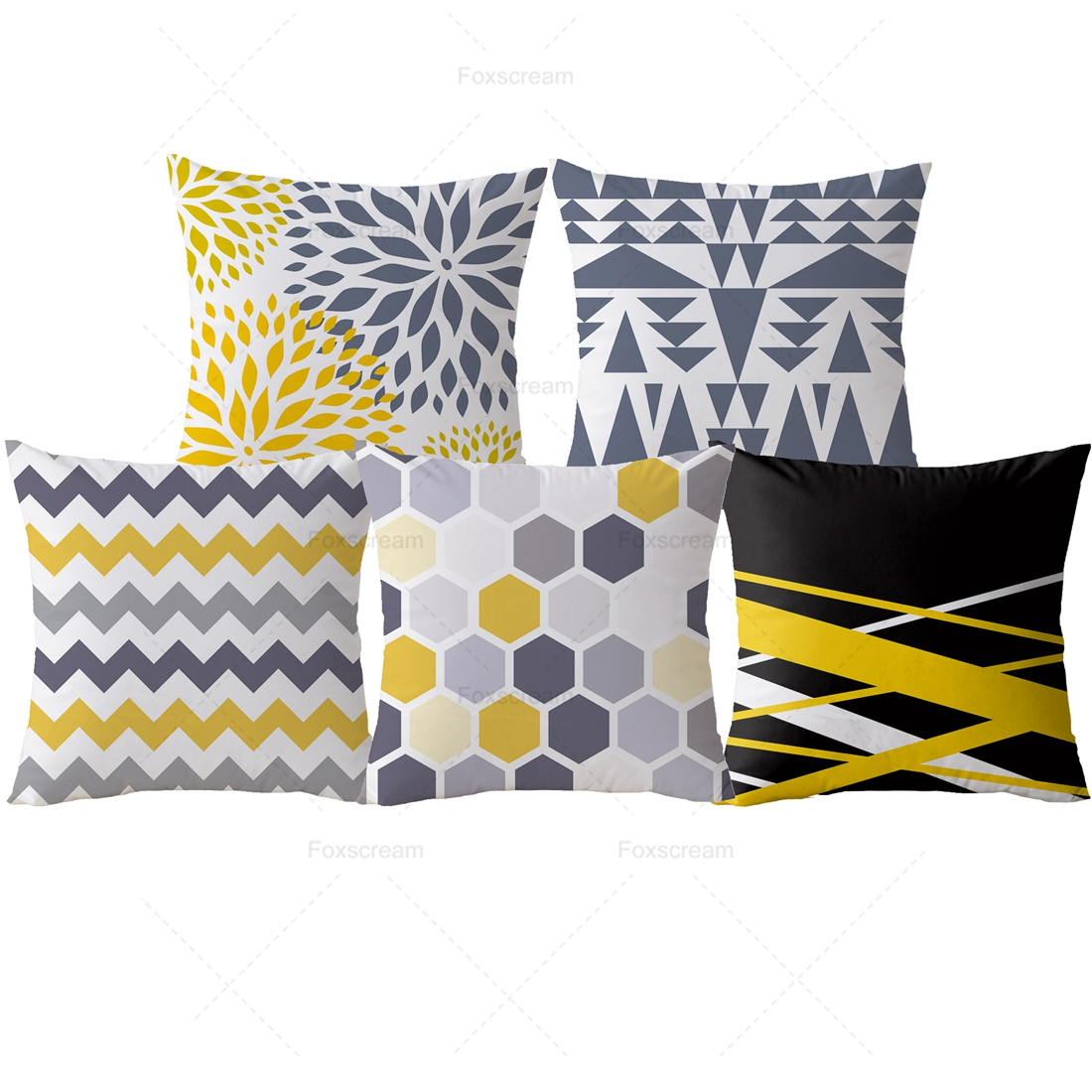 Yellow Decorative Pillows Geometric