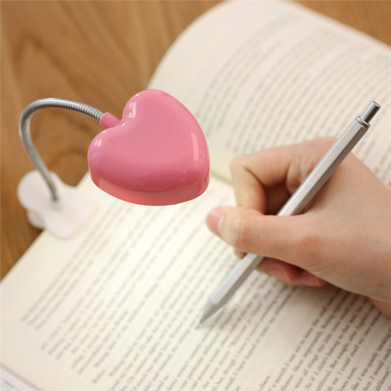 Lâmpadas de Mesa cor rosa mini ajustável flexível Características : Reading Lamp Clip