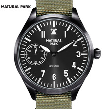 NATURAL PARK Classic Black Dial Luxury Military Watches Men Automatic Mechanical Wristwatches Sapphire Crystal Business Clock
